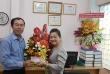 Đại diện Văn phòng Bộ tại TPHCM và các cơ quan, đơn vị chúc mừng VP Đại diện Tạp chí  LĐXH phía Nam nhân ngày 21/6