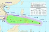 Bão Sanba giật cấp 10 đang hướng vào Biển Đông
