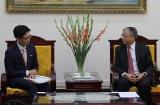 Thứ trưởng Doãn Mậu Diệp tiếp Công sứ Nhật Bản tại Việt Nam