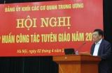 Đảng ủy Khối các cơ quan Trung ương tổ chức tập huấn nghiệp vụ tuyên giáo
