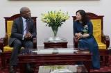 Thứ trưởng Nguyễn Thị Hà tiếp Đại sứ Botswana
