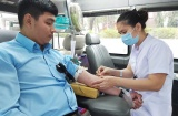Hơn 400 tình nguyện viên tham gia tham gia hiến máu nhân đạo mùa dịch Covid-19
