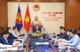 Bộ trưởng Đào Ngọc Dung chia sẻ kinh nghiệm kiểm soát dịch COVID-19 với ASEAN