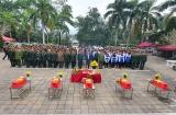 Hà Giang an táng và truy điệu 7 hài cốt liệt sỹ tại Nghĩa trang Liệt sỹ Quốc gia Vị Xuyên