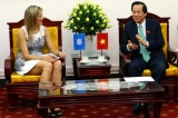 Minister of MOLISA Dao Ngoc Dung welcomed Queen Maxima of the Netherlands