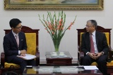 Deputy Minister Doan Mau Diep welcomed Japanese Ambassador in Vietnam