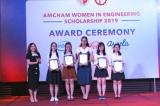 45 nữ sinh viên ngành kỹ thuật nhận học bổng của AmCham