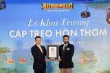 Phú Quốc khai trương cáp treo Hòn Thơm dài nhất thế giới