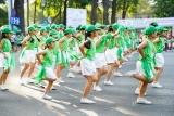 Màn đồng diễn thể dục của 2000 học sinh TP Hồ Chí Minh tại Ngày chạy Olympic vì sức khỏe toàn dân