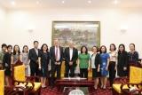 Thứ trưởng Nguyễn Thị Hà tiếp Chủ tịch Tập đoàn Manpower