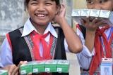 Vinamilk mang đến niềm vui uống sữa cho trẻ em Phú Yên nhân dịp tết Trung Thu