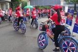Đạp xe diễu hành hưởng ứng Tháng phòng chống cháy nổ 2020