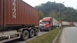 Lạng Sơn: Lại xảy ùn ứ nghiêm trọng xe container chở nông sản ở cửa khẩu