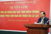 Bộ Lao động-Thương binh và Xã hội phát động ủng hộ đồng bào miền Trung