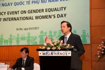 Policy event on gender equality on occasion of International Women's Day 2017 in Hanoi