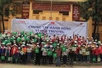 Canon Việt Nam tuyên truyền bảo vệ môi trường và ra quân làm sạch môi trường ở Bắc Ninh