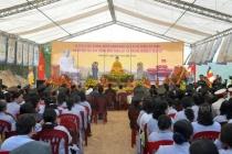 Lễ cầu siêu và đặt đá xây dựng đền thờ anh hùng liệt sỹ Trung đoàn 5 Yên Tử