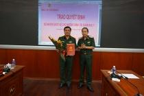 Trao quyết định Chủ nhiệm Chính trị Quân khu 7 cho Đại tá Đỗ Văn Bảnh