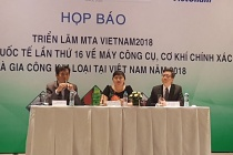 Triển lãm Quốc tế ngành công nghiệp sản xuất và cơ khí chế tạo tại Việt Nam sẽ khai mạc vào ngày 3/7/2018 tại TPHCM