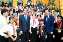 Chủ tịch nước gặp mặt 70 đại biểu trẻ em tiêu biểu