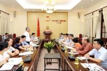 Thứ trưởng Doãn Mậu Diếp tiếp và làm việc với Đoàn Trưởng Cơ quan đại diện