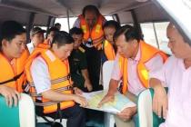 Thứ trưởng Lê Tấn Dũng kiểm tra công tác phòng chống thiên tai tại An Giang và Long An