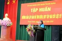 Quận Thanh Xuân: Tập huấn hướng dẫn thực hiện lập bản đồ, tìm kiếm, quy tập hài cốt liệt sỹ