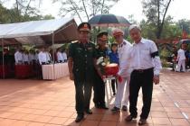 Tổ chức trọng thể lễ truy điệu và an táng hài cốt liệt sĩ tìm thấy tại  Long Thành