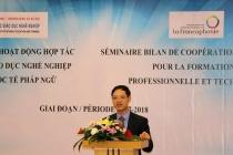 Hội thảo tổng kết hoạt động hợp tác giữa Tổ chức quốc tế Pháp ngữ và Tổng cục Giáo dục nghề nghiệp