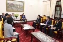 Bộ trưởng Đào Ngọc Dung tiếp Đại sứ quan Nhật Bản tại Việt Nam