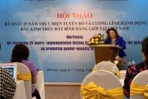 Rà soát 25 năm thực hiện Tuyên bố và Cương lĩnh hành động Bắc Kinh thúc đẩy bình đẳng giới tại Việt Nam