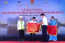 Hơn 200 công nhân dự lễ phát động Tháng hành động về an toàn, vệ sinh lao động  ngành xây dựng
