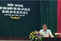 Huyện Xuân Trường: Đẩy mạnh tìm kiếm và quy tập hài cốt liệt sĩ