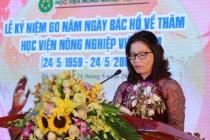 """Học viện Nông nghiệp Việt Nam kỷ niệm 60 năm ngày Bác Hồ về thăm và giao lưu văn hóa nghệ thuật """"Lời ca ơn Bác"""""""