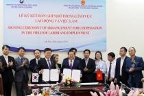 Lễ ký Bản ghi nhớ giữa Bộ Lao động – Thương binh và Xã hội và Bộ Việc làm và Lao động Hàn Quốc