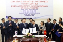 Signing ceremony of Memorandum of Understanding between the Ministry of Labor - Invalids and Social Affairs of Vietnam and the Ministry of Health and Social Welfare of Korea