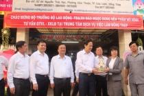 Bộ trưởng Đào Ngọc Dung thăm Trung tâm Dịch vụ Việc làm tỉnh Đồng Tháp