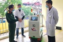 Chế tạo thành công Robot vận chuyển trong các khu vực cách ly Covid-19