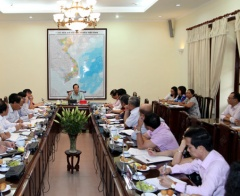 Minister Dao Ngoc Dung had a meeting with press agencies of Ministry of Labours-Invalids and Social Affairs (MOLISA)