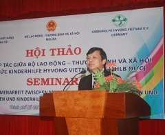 40 years of cooperation between  the Ministry of Labour- Invalids and Social Affairs and Kinderhilfe Hyvong Vietnam E.V Organisation