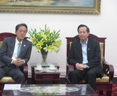 Minister Dao Ngoc Dung welcomed Ambassador of Japan in Vietnam