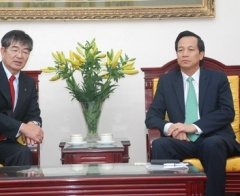 Minister Dao Ngoc Dung welcomed the President of IM Japan
