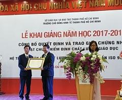 Trường Cao đẳng Kinh tế TPHCM: Khai giảng năm học mới và đón nhận Quyết định đạt chuẩn kiểm định chất lượng giáo dục và Hệ thống quản chất lượng theo tiêu chuẩn ISO 9001: 2015.