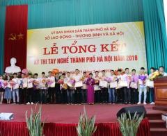 176 thí sinh đạt giải tại Kỳ thi tay nghề thành phố Hà Nội năm 2018