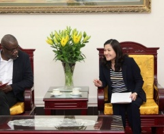 Deputy Minister Nguyen Thi Ha suggested UNICEF to continue financial assistance and family support services in Viet Nam