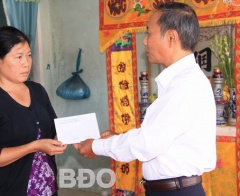Bình Định: Thăm 3 gia đình nạn nhân tai nạn lao động