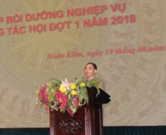 Hội Cựu chiến binh quận Hoàn Kiếm tổ chức lớp bồi dưỡng nghiệp vụ công tác hội năm 2018
