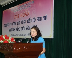 Tập huấn nghiệp vụ cho cán bộ Ban vì sự tiến bộ của phụ nữ Bộ Lao động – Thương binh và Xã hội