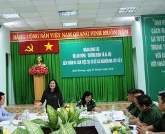 Thứ trưởng Nguyễn Thị Hà thăm và làm việc tại Cơ sở cai nghiện ma túy số 3