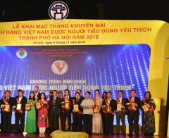 """Khai mạc Tháng Khuyến mại Hà Nội và tôn vinh """"Hàng Việt Nam được người tiêu dùng yêu thích"""" TP Hà Nội 2018"""
